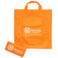Wholesale Orange environmental Recycled Fabric Non-woven Shopping Bag With Offset Printing Logo from china suppliers