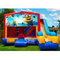 7in1 kids Despicable Me minion bounce house with basketball hoop N obstacles inside for sale