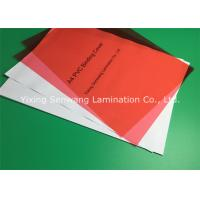 China Rigid Red Glossy PVC Binding Covers A3 Subtle Dull Polish For Anti - Skid on sale