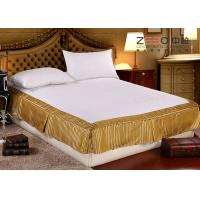 Wholesale Quilted Hotel Bedding Sets / Hotel Bed Skirts With Fitted Sheet from china suppliers