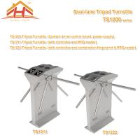 Wholesale Dual Lane Drop Arm Tripod Style Access Control Turnstile Fingerprint & RFID Reader from china suppliers