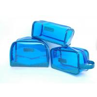 Wholesale Portable Waterproof Clear blue PVC Packaging bags Promotional , small makeup bags from china suppliers