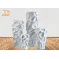 Wholesale Creative Wavy Pattern Fiberglass Flower Pots / Floor Vases Lightweight from china suppliers