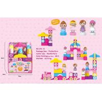 Wholesale 72 Pcs Plastic DIY Building Blocks Educational Toys W / Train Numerals 4 Figurines from china suppliers
