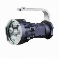 Wholesale 6,000lm High Brightness LED Flashlight with 6 Pieces CREE Chip for Both Indoor and Outdoor Use from china suppliers