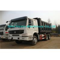 Wholesale White Sinotruk 8 Ton HOWO Heavy Duty Dump Truck , 6x4 Diesel Dump Truck from china suppliers