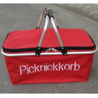 Wholesale Hand held Shopping folding Basket carrying Bag red double handle / logo pringting from china suppliers