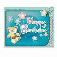 Wholesale Birthday Card with Logo Printings, OEM Orders are Welcome, Made of Paper from china suppliers
