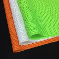 Wholesale Resilient Jacquard Spacer Knitted 3D Air Mesh Fabric  In green / orange / black color from china suppliers