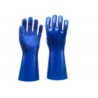 Wholesale Single Dipped PVC Dotted Gloves Gauntlet Interlock Liner Stable Working from china suppliers
