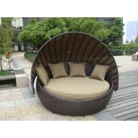 China Outdoor Rattan Furniture , Aluminium Frame Resin Wicker Daybed wholesale