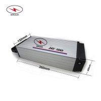 Wholesale BMS 24V 10Ah 20Ah Electric Bicycle Lithium Battery Rear Rack from china suppliers