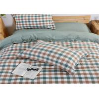 Wholesale Multi Color Washed Cotton And Plaid Cotton Bedding Sets / Full Size Comforter Sets from china suppliers