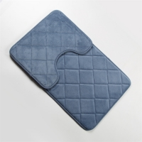 Wholesale Tufted Memory Foam Anti Slippery Bathroom Mat 3 Piece Bathroom Rug Set from china suppliers