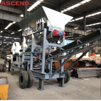 Wholesale Trailer Mounted Portable Mobile Diesel Engine Stone Jaw Crushing Crusher Station Plant Machine from china suppliers