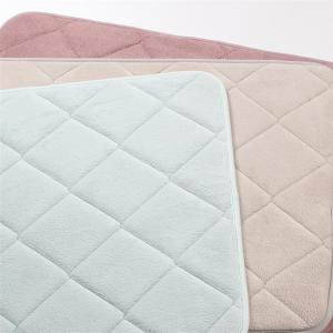 Wholesale Embossed Flannel Surface Microfiber Memory Foam Bath Mat PVC Backing from china suppliers