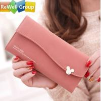 Wholesale Small Pure Fashion Long Ladies Leather Handbags with Credit Card Socket from china suppliers