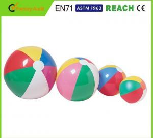 Diameter 20 Inch Beach Ball , Funny Beach Ball Non Toxic In Accordance With EN71