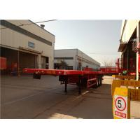 Wholesale 3 Axle Steel Flatbed Semi Trailer For Shipping 40ft Container Transport from china suppliers