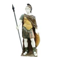 Wholesale Classic greek stone man statue ,male marble sculpture with shield,China stone carving Sculpture supplier from china suppliers