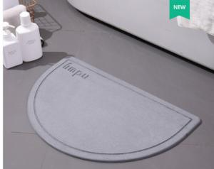 Wholesale Semicircle Earth Fiber Diatomaceous Bath Mat Fast Drying Shower Mat from china suppliers