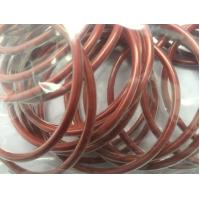 China Encapsulated Silicone O Ring Seals , Red High Temperature Rubber Silicone Rings on sale
