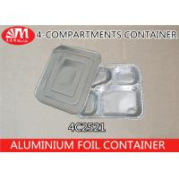 Wholesale 4C2521 Aluminium Foil Products 4 Compartment Foods Packing Container 850ml Volume from china suppliers