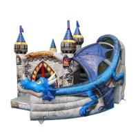 Wholesale Super Print 0.55mm PVC Tarpaulin Inflatable Dragon Castle For kindergarten from china suppliers