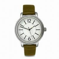 Wholesale Fashionable Leather Big Faces Watch, Made of Stainless Steel Material, Water-resistant from china suppliers