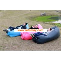 Portable Nylon Fabric outdoor inflatable Beach Lounger, Convenient Compression