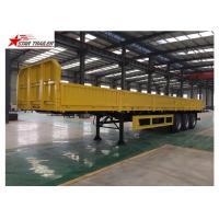 Wholesale 30-60 Tons Front Load Trailer Drop Side Wall And Checked Steel Floor from china suppliers