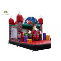 Wholesale Merry Christmas Inflatable Santa Claus Bouncy Castle For Xmas Decoration 20ft from china suppliers
