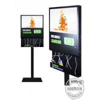 Wholesale 21.5 inch Android Wifi Digital Signage Advertising screen Display with mobile phone charging station For Restaurant from china suppliers