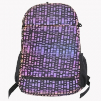 Wholesale Girls Purple Fluorescent Lattice Nylon Student Backpack from china suppliers