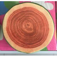 Hot selling high quality customized fruit printed round cushion