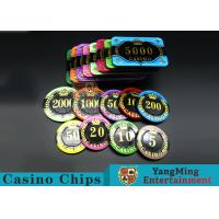 Wholesale Difficult To Distort Authentic Casino Poker Chips, Crystal Dice Poker Chips from china suppliers