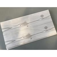 Wholesale Flat 25cm Waterproof Wall Panels Wooden Pattern With Double Silver Lines from china suppliers