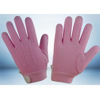 Wholesale Dyed Colors Cotton Work Gloves Magic Tape On Wrist 145gsm Fabric Weight from china suppliers
