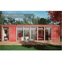 China Cozy Leisure Collapsible Modular House / 40ft Shipping Container Home for Coffee Shop on sale