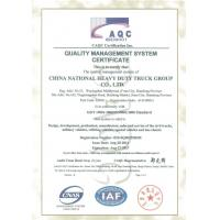 Jinan Heavy Truck Import & Export Co., Ltd. Certifications
