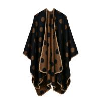 Quality Wholesale 50%polyester and 50% acrylic fashion dot design lady shawl for sale