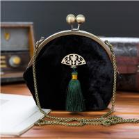 Wholesale Accessories, Vintage Handbag, Velvet Handbag, Vintage Purse, Victorian, Victorian Purse, Black Velvet Bag, Ladies Purse, from china suppliers