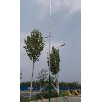 guyed aluminum telescopic mast antenna pole  6 meter 18 meter telescopic antenna tower with trolley base