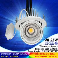 Wholesale 2700K to 6500K 20W 25W ac230v CREE recessed spotlight fixture ceiling light with 5 years warranty from china suppliers