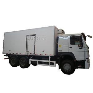 Wholesale 2 axle Sino Howo 10wheels 20 ton 30 cubic 6x4 refrigerator refrigerating container freezer truck from china suppliers