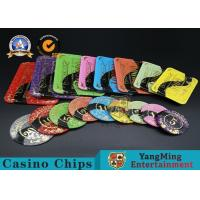 Wholesale Casino Printable Acrylic Ultimate Poker Chips Jeton Diameter 81 * 56 / 94 * 66mm from china suppliers