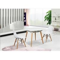 China Elegant Simplicity EAMES Plastic Chair , PP White Charles EAMES Dining Chair wholesale