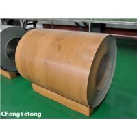 Wholesale PE Coating Stainless Steel Sheet Coil , Wood Grain Stainless Steel Sheet Roll Weight ≤8T from china suppliers