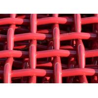 Wholesale Red Woven Pvc CoatedHigh Carbon Wire Mesh For Mining And Vibrating Screen Machine from china suppliers