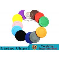 Quality Roulette Dedicated Solid Color Plastic Poker ChipsWith Customized Print Logo for sale